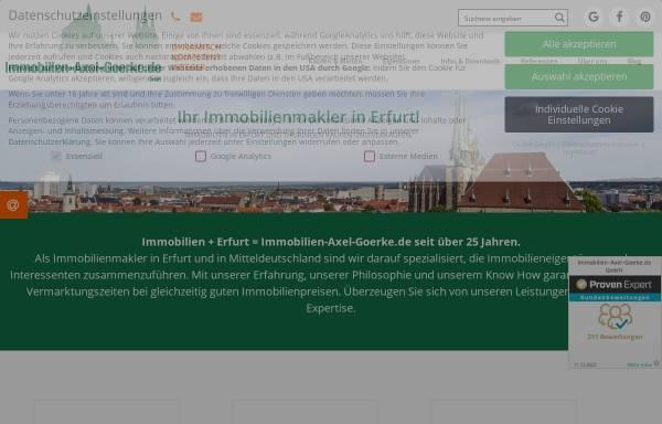 Vorschau von www.immobilien-axel-goerke.de, Immobilien-Axel-Goerke.de GmbH & Co KG