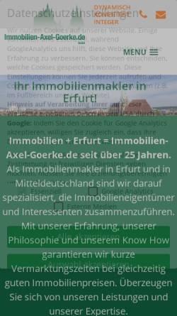 Vorschau der mobilen Webseite www.immobilien-axel-goerke.de, Immobilien-Axel-Goerke.de GmbH & Co KG