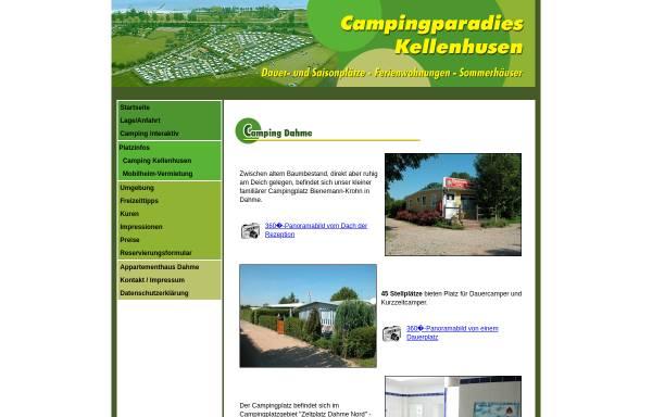 Vorschau von www.campingparadies-kellenhusen.de, Campingplatz Bienemann-Krohn