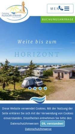Vorschau der mobilen Webseite www.fluegger-strand.de, Camping Flügger Strand