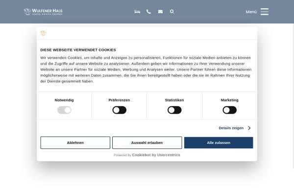 Vorschau von www.wulfenerhals.de, Camping- und FerienparkWulfener Hals