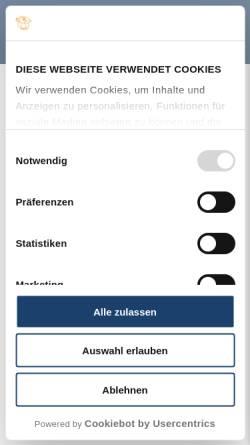 Vorschau der mobilen Webseite www.wulfenerhals.de, Camping- und FerienparkWulfener Hals