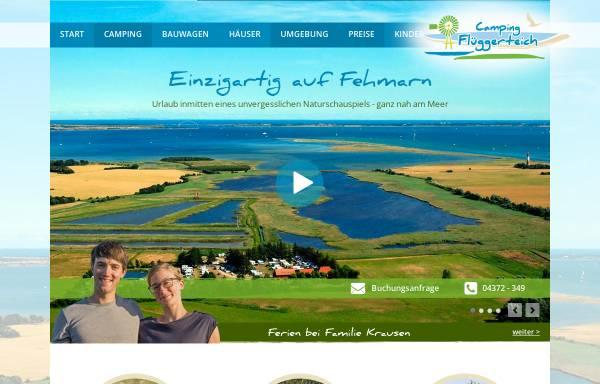Vorschau von www.flueggerteich.de, Campingplatz Flüggerteich