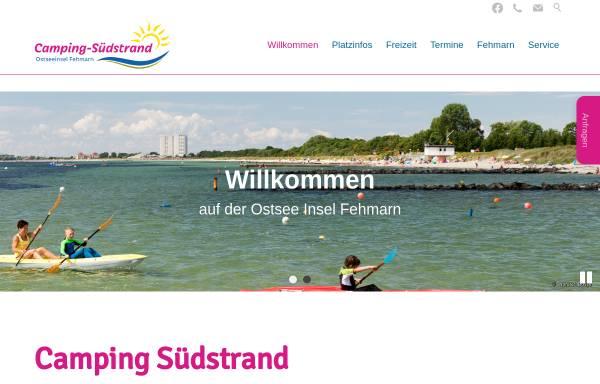 Vorschau von www.camping-suedstrand.de, Camping-Südstrand