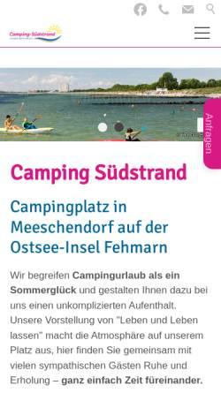 Vorschau der mobilen Webseite www.camping-suedstrand.de, Camping-Südstrand
