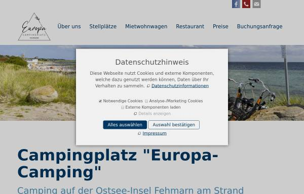 Vorschau von europacamping-vintz.de, Europa-Camping, Martina Vintz