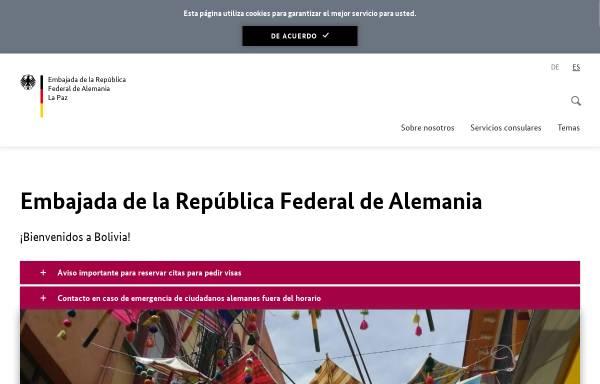 Vorschau von www.la-paz.diplo.de, Bolivien, deutsche Botschaft La Paz