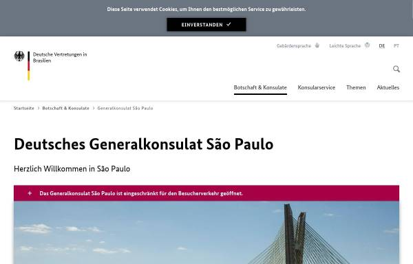 Vorschau von www.sao-paulo.diplo.de, Brasilien, deutsches Generalkonsulat in Sao Paulo
