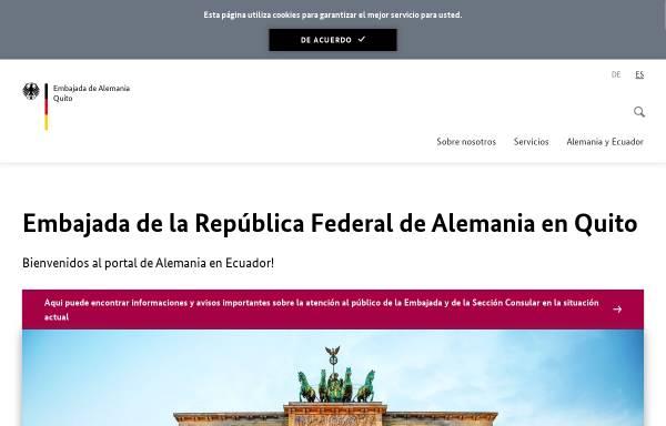 Vorschau von www.quito.diplo.de, Ecuador, deutsche Botschaft in Quito