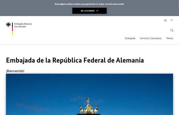 Vorschau von www.san-salvador.diplo.de, El Salvador, deutsche Botschaft in San Salvador
