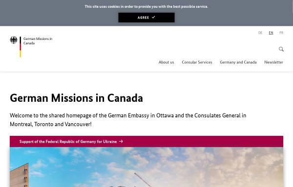 Vorschau von www.kanada.diplo.de, Kanada, deutsche Botschaft in Ottawa
