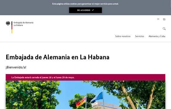 Vorschau von www.havanna.diplo.de, Kuba, deutsche Botschaft in Havanna