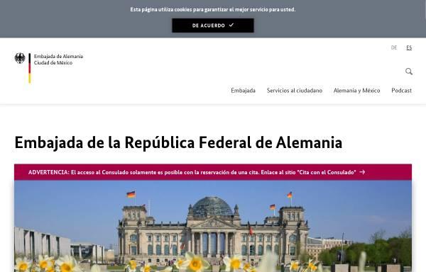 Vorschau von www.mexiko.diplo.de, Mexiko, deutsche Botschaft in Mexiko