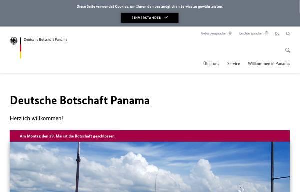Vorschau von www.panama.diplo.de, Panama, deutsche Botschaft in Panama