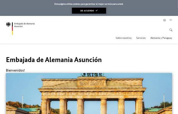 Vorschau von asuncion.diplo.de, Paraguay, deutsche Botschaft in Asunción