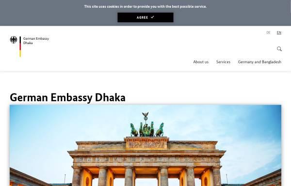 Vorschau von www.dhaka.diplo.de, Bangladesch, deutsche Botschaft Dhaka
