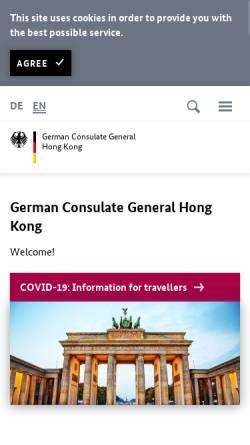 Vorschau der mobilen Webseite www.hongkong.diplo.de, China, deutsches Generalkonsulat Hongkong