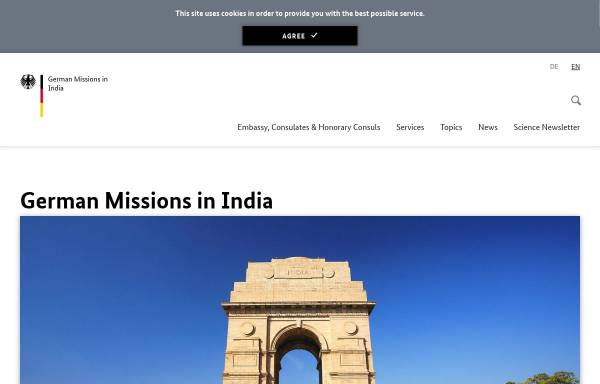 Vorschau von www.new-delhi.diplo.de, Indien, deutsche Botschaft in New Delhi