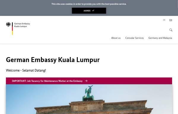 Vorschau von www.kuala-lumpur.diplo.de, Malaysia, deutsche Botschaft in Kuala Lumpur