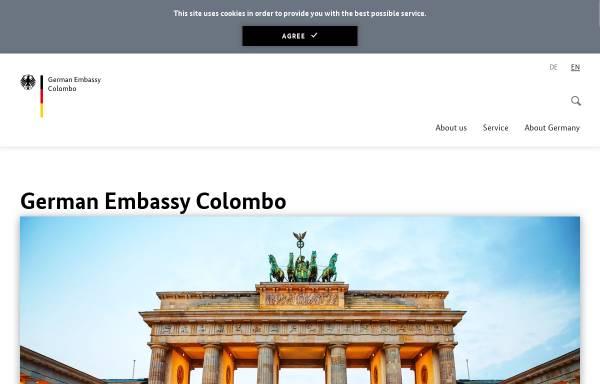 Vorschau von www.colombo.diplo.de, Sri Lanka, deutsche Botschaft in Colombo
