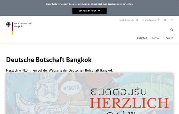 Vorschau von www.bangkok.diplo.de, Thailand, deutsche Botschaft in Bangkok