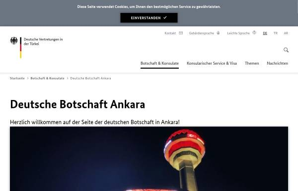 Vorschau von www.ankara.diplo.de, Türkei, deutsche Botschaft in Ankara