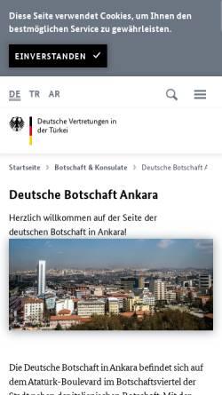 Vorschau der mobilen Webseite www.ankara.diplo.de, Türkei, deutsche Botschaft in Ankara