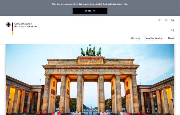 Vorschau von www.abu-dhabi.diplo.de, Vereinigte Arabische Emirate, deutsche Botschaft in Abu Dhabi