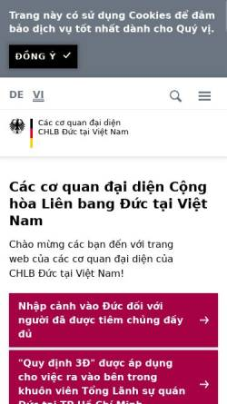 Vorschau der mobilen Webseite www.hanoi.diplo.de, Vietnam, deutsche Botschaft in Hanoi
