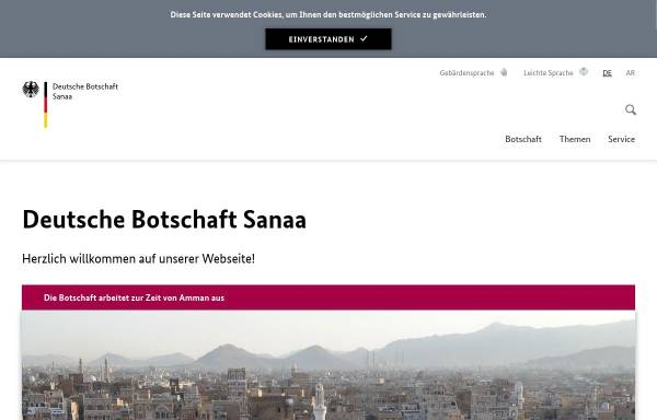 Vorschau von www.sanaa.diplo.de, Yemen, deutsche Botschaft in Sanaa