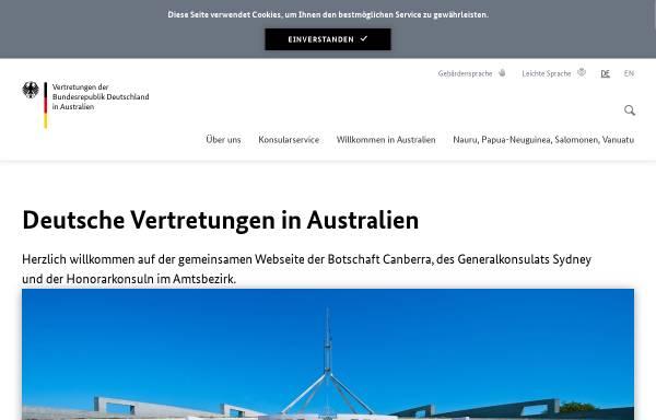 Vorschau von www.australien.diplo.de, Australien, deutsche Botschaft Canberra