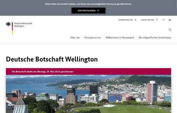 Vorschau von www.wellington.diplo.de, Neuseeland, deutsche Botschaft in Wellington