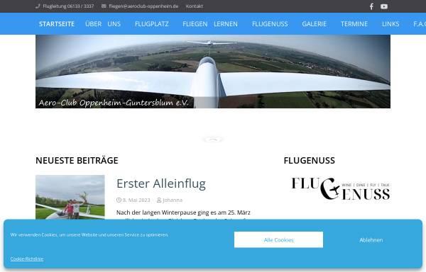 Vorschau von www.aeroclub-oppenheim.de, Aero-Club Oppenheim-Guntersblum am Rhein e.V.