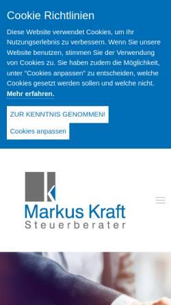 Vorschau der mobilen Webseite www.steuerberater-kraft.de, Steuerberater Günther Kraft