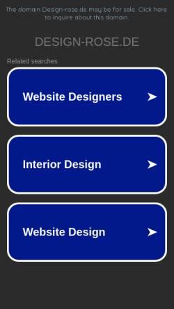 Vorschau der mobilen Webseite www.design-rose.de, Wilfried Rose