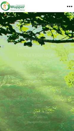 Vorschau der mobilen Webseite www.wuepper-haustechnik.de, Wüpper Energie und Haustechnik GmbH