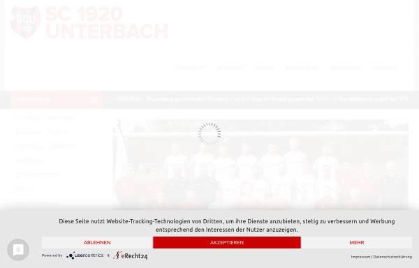 Vorschau von www.scunterbach.de, Sportclub 1920 Unterbach e.V. Abteilung für Gesundheitssport