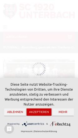 Vorschau der mobilen Webseite www.scunterbach.de, Sportclub 1920 Unterbach e.V. Abteilung für Gesundheitssport