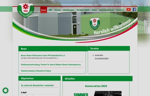 Vorschau von www.tsv-hochdahl.de, TSV Hochdahl 64 e.V.