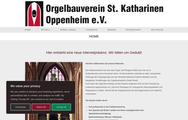Vorschau von www.orgel-sankt-katharinen.de, Kirchenmusik Sankt Katharinen