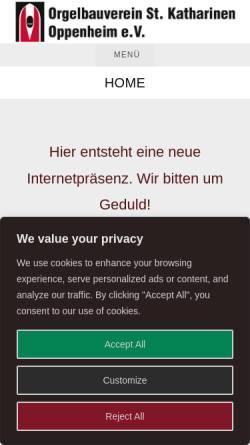 Vorschau der mobilen Webseite www.orgel-sankt-katharinen.de, Kirchenmusik Sankt Katharinen