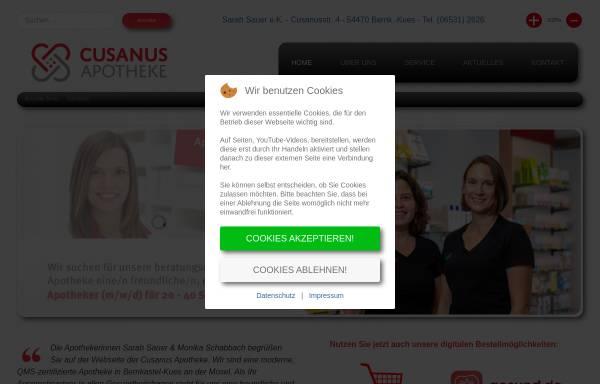 Vorschau von www.cusanus-apotheke.de, Cusanus-Apotheke