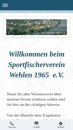 Vorschau der mobilen Webseite sportfischer-wehlen.de, Sportfischerverein Wehlen 1965 e.V.