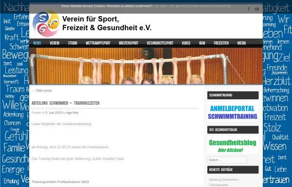 Vorschau von sfg-bks.de, Verein für Sport, Freizeit und Gesundheit