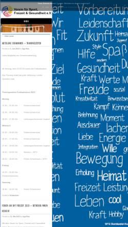 Vorschau der mobilen Webseite sfg-bks.de, Verein für Sport, Freizeit und Gesundheit