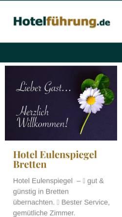 Vorschau der mobilen Webseite www.hotel-eulenspiegel.de, Hotel Eulenspiegel