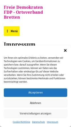 Vorschau der mobilen Webseite fdp-bretten.de, FDP Bretten