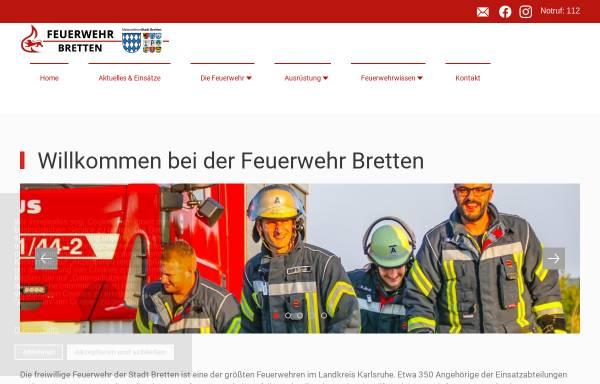 Vorschau von www.feuerwehr-bretten.de, Freiwillige Feuerwehr Bretten