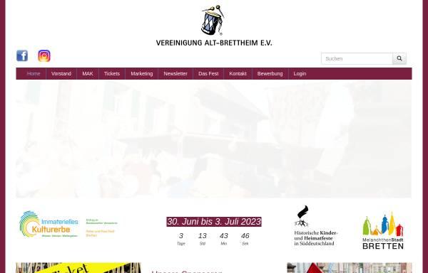 Vorschau von www.alt-brettheim.de, Vereinigung Alt-Brettheim