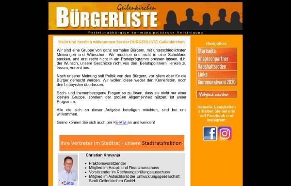 Vorschau von buergerliste-geilenkirchen.de, Bürgerliste Geilenkirchen